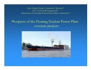 Prospects of the Floating Nuclear Power Plant overseas projects - UxC