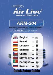 AirLive ARM-204 Quick Setup Disk