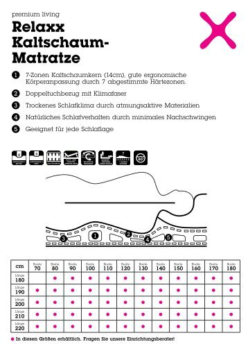 Relaxx Kaltschaum- Matratze