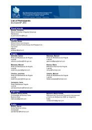 Participant List as at June 30th, 2012