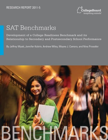 SAT Benchmarks - For Professionals - College Board