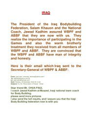 iraq is convinced that wbpf and abbf are the legitimate and true ...
