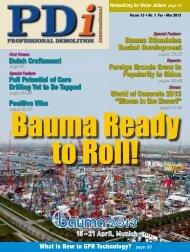 Bauma Stimulates Bucket Development Foreign ... - Pdworld.com