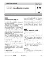 PRODUITS ET MATÉRIAUX DE PAROIS