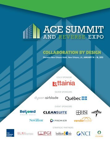 View or Download 2013 Pre-Event Guide - ACE Summit & Expo