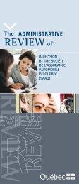 The Administrative Review of a Decision by the Société de l ...