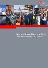 Nachhaltigkeitsbericht 2009 - Deutsche Bahn AG