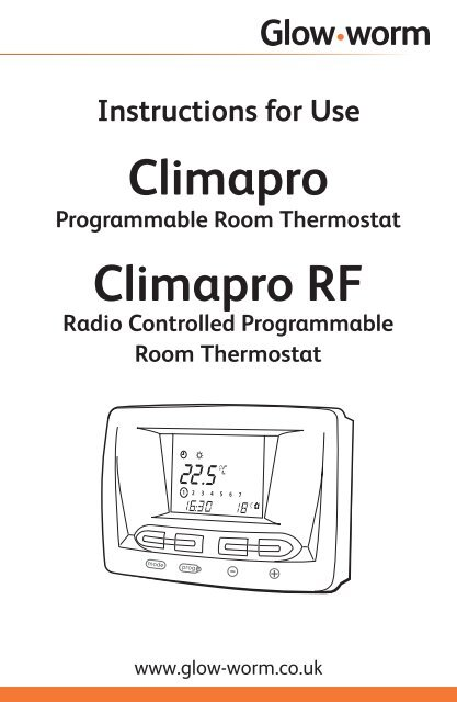 Climapro room thermostat - user's manual