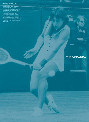 2012 The Veranda Menu - Wimbledon