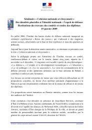Séminaire « Cohésion nationale et citoyenneté » Des ... - IHEDN