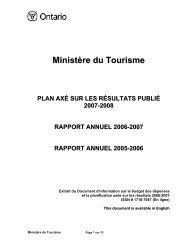 Plan axé sur les résultats 2007-2008