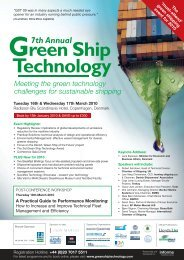 Meeting the green technology challenges for sustainable shipping