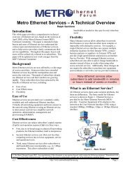 Metro Ethernet Services - A Technical Overview - MEF