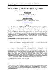 2005 ÖĞRETİM PROGRAMINI ... - Prof.Dr. Seval Fer