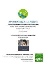 KiP : Kids Participation in Research - AECC-Bio - Universität Wien