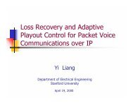 Loss Recovery and Adaptive Playout Control for Packet Voice ...