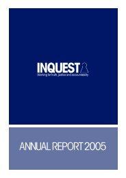 Annual Report 2005 - Inquest