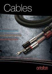 Tonearm cables Interconnect cables Speaker cables - Ortofon