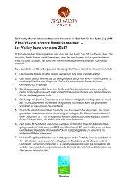 Chancen von Valley - Golf Valley GmbH
