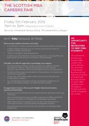 The ScoTTiSh MBA cAreerS FAir - University of Edinburgh Business ...