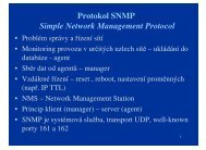Protokol SNMP Simple Network Management Protocol - eAMOS