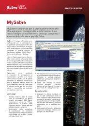MySabre - Sabre Travel Network