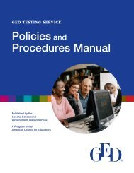 GED Testing Service Policies and Procedures Manual - acces