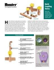 21-995 Quick Coupling Valve Brochure - Hunter Industries