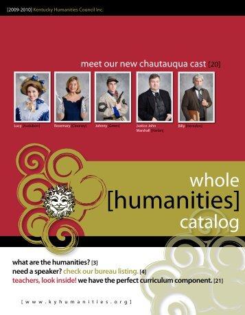 [humanities] - Kentucky Humanities Council