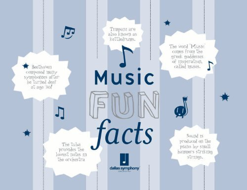 Music Fun Facts Dso Kids