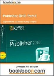 Publisher 2010: Part II Language English Format: PDF ... - Tutorsindia