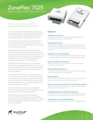 ZoneFlex™ 7025 - UK Broadband Distribution