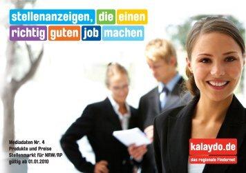 richtig einen guten job machen die stellenanzeigen, - kalaydo.de