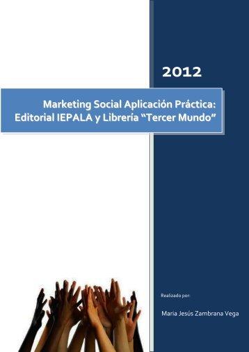 Marketing Social Aplicación Práctica: Editorial IEPALA y Librería ...