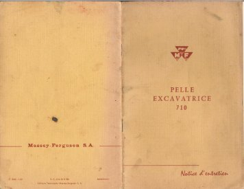 Page 1 è s PELLE v EXCAVATRICE 710 MasseyFerguson S. A. ...