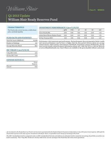 Class N Factsheet - William Blair Funds