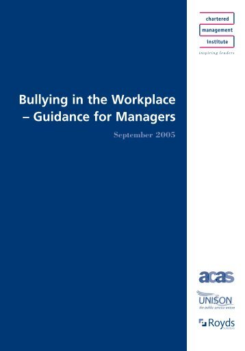 Bullying - Management and Business Studies Portal