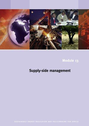 Supply-side management - unido