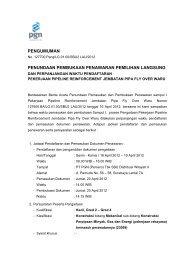 pengumuman pendaftaran rekanan - PGN