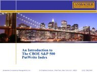 An Introduction to The CBOE S&P 500 PutWrite Index - CBOE.com