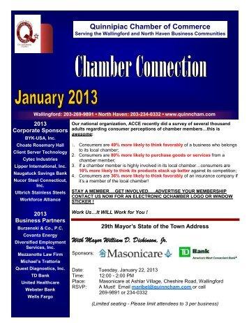January 2013 Newsletter - The Quinnipiac Chamber of Commerce