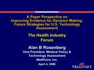 Future Strategies for U.S. Technology Assessment - Health Industry ...