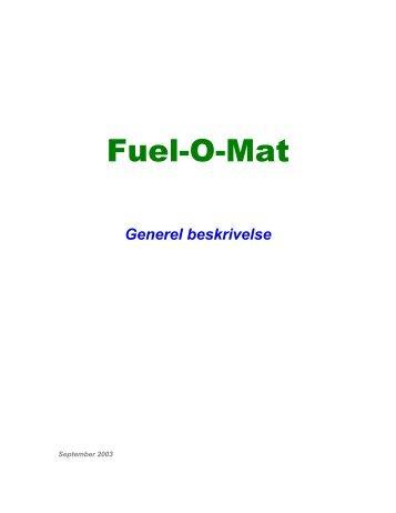 FUEL-O-MAT - Tælle-/adgang-/registreringssystem for ... - DKC