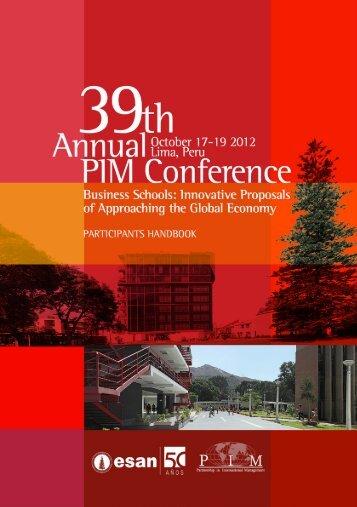 39th annual pim conference - Esan