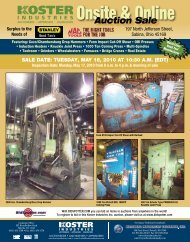 Onsite & Online - National Machinery Exchange
