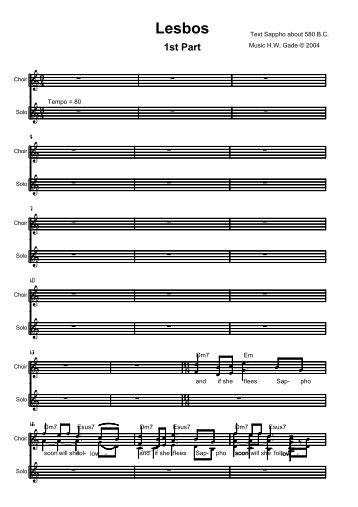 Lesbos 1st Part - NORDISC Music & Text