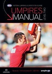 Level 2 Boundary Umpire Accreditation Manual - AFL Community