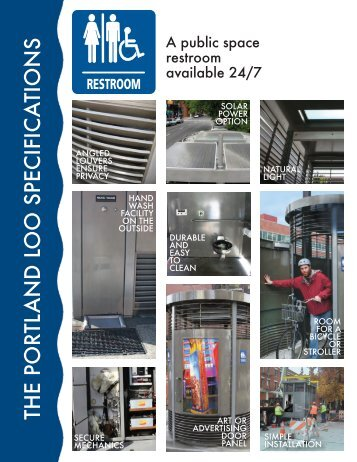 The Portland Loo specification fact sheet