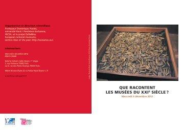 que racontent les musées du xxie siècle - Université Paris 1 ...