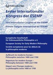 Erster Internationaler Kongress der ESEMP - FernUniversität in Hagen